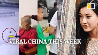 Viral China this week: Boy can't take eyes away from phone, ends up holding on to stranger and more