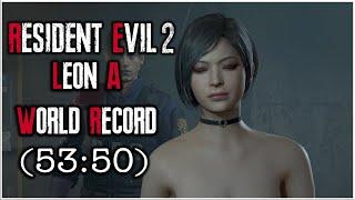 Resident Evil 2 Remake - Leon A Speedrun World Record - 53:50