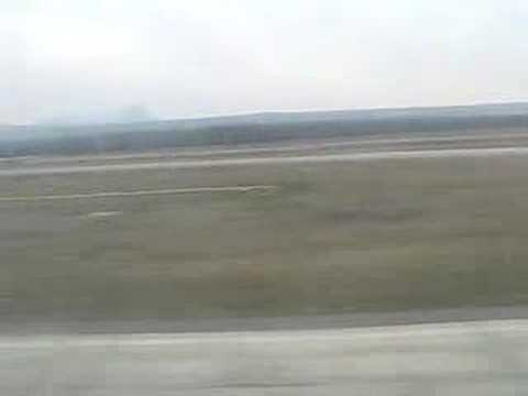 Landing in Mineralnye Vody airport