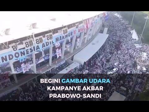 Ini Gambar Udara Kampanye Akbar Prabowo-Sandiaga di GBK