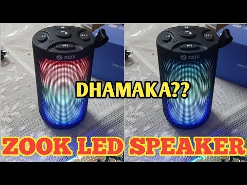 Zook LED Wireless Speaker with Call in Function Aux USB Micro Sd Card Review | Best Speaker