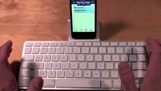 Apple iPod Touch 4G working with iPad Keyboard Dock: Demo