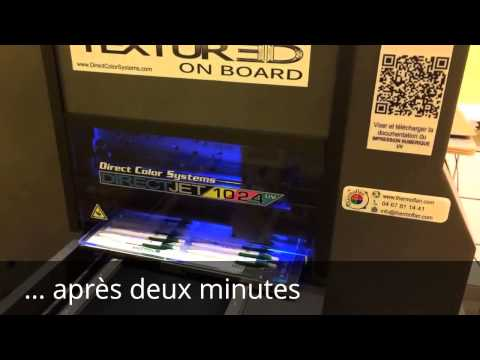Marquage de stylos avec l'imprimante UV DJ1024