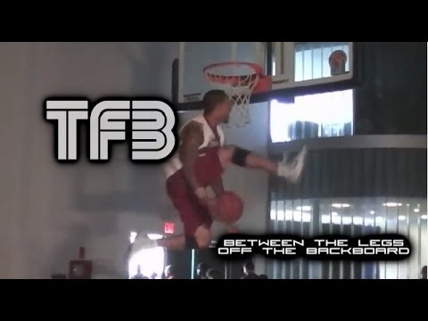 """5'10"""" Brandon Matano Impresses Dunk Legend Guy Dupuy with his Eastbay off the Backboard!"""