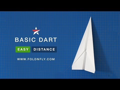 Fold 'N Fly ✈ The Basic Dart Paper Airplane
