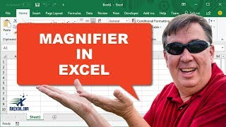 Learn Excel - Magnifier in Excel - Podcast2224