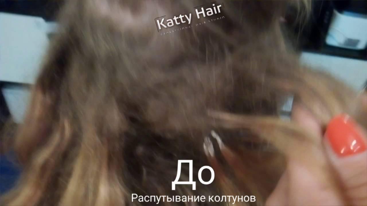 Как распутать колтуны на нарощенных волосах