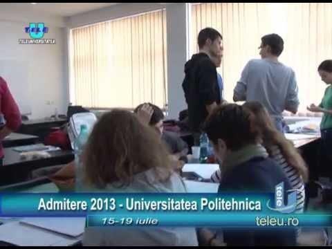 TeleU: Admitere UPT 2013