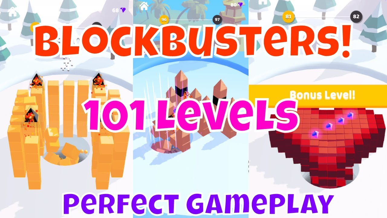 🔥BLOCKSBUSTER!🔥ALL 101 LEVELS📱Mobile GamePlay Walkthrough with Synthwave image