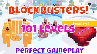 🔥BLOCKSBUSTER!🔥ALL 101 LEVELS📱Mobile GamePlay Walkthrough with Synthwave