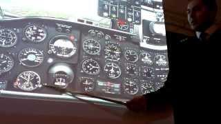 показ приладів Ан-24 в симуляторі