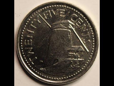 BARBADOS 25 Cents coin collection