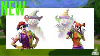 'NEW' Fortnite Clown Skins CREEPY! Nite Nite/Peekaboo peau, Balloon Llama/Battle Balloon backbling