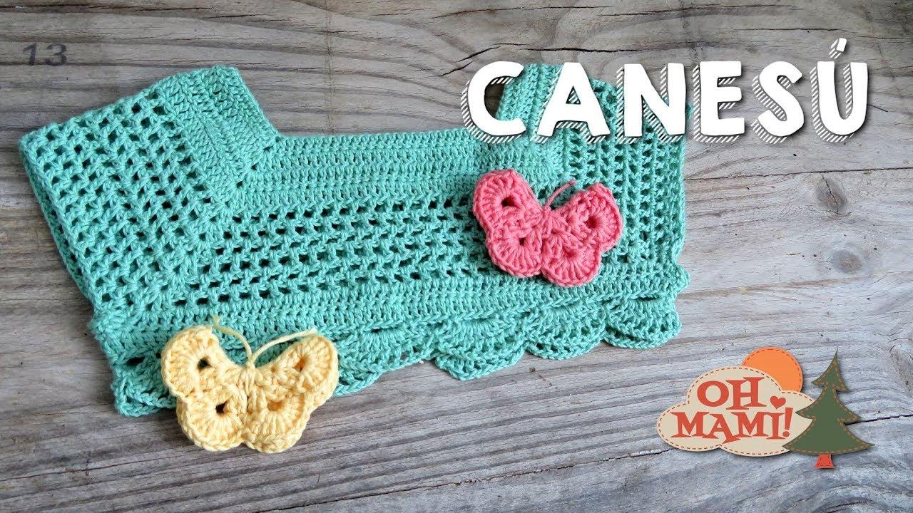 Canesú para niña a crochet - YouTube
