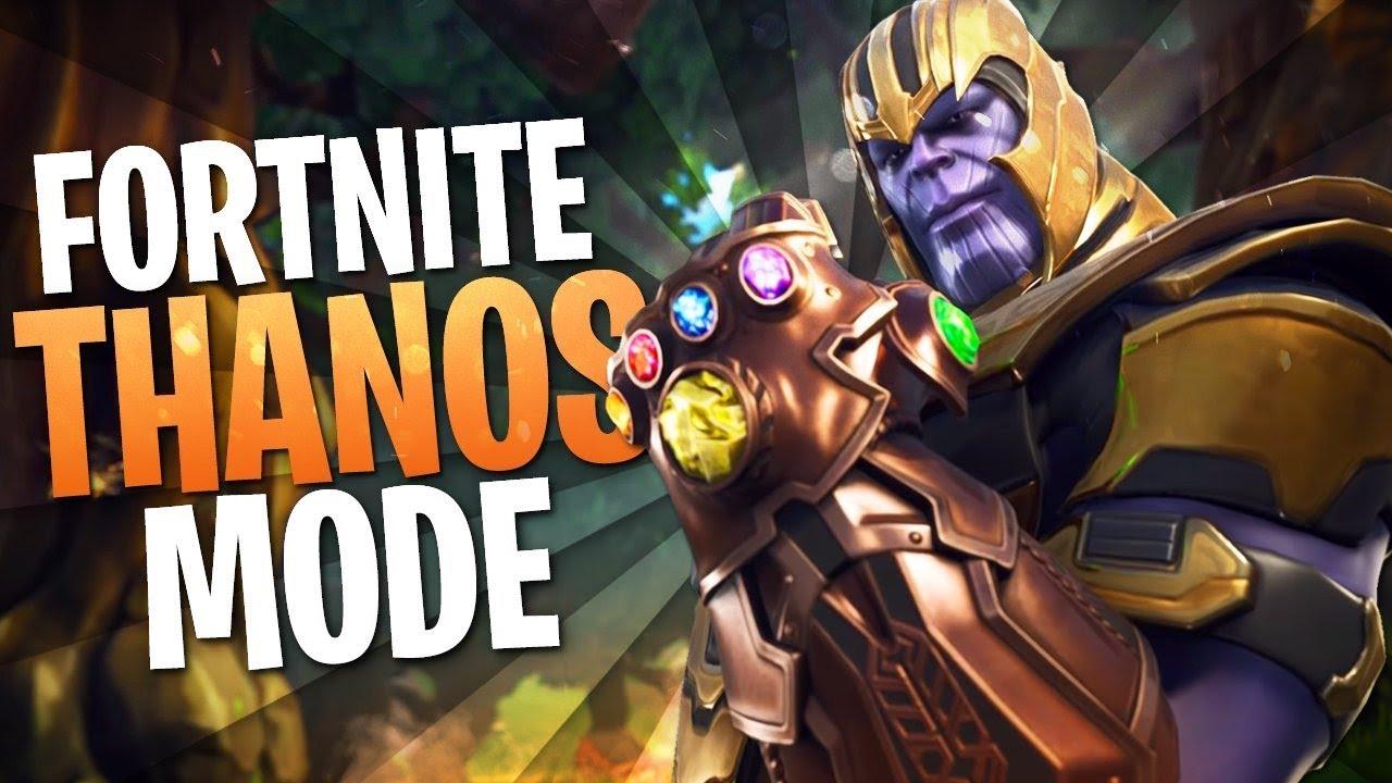 Youtube Thanos Gameplay Fortnite Thanos Mode Fortnite Thanos Gameplay Youtube