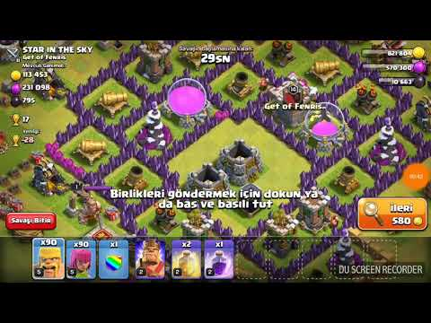 Clash Of Clans 5.Seviye Okçu Barbar Saldırısı :)