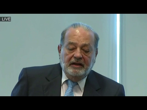 Mexican Business Magnate Carlos Slim Holds News Conference on President Donald Trump ✔