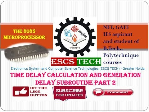 Lec-35 Time delay calculation and generation Delay subroutine Part-2