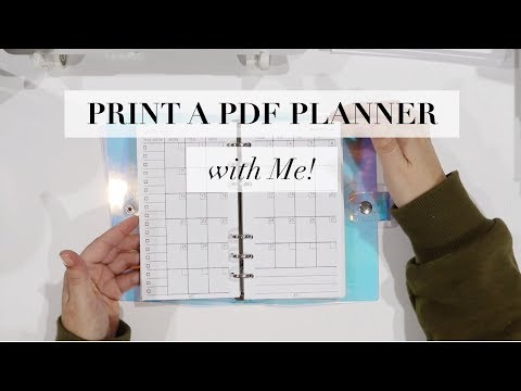 How to Print + Bind a PDF Print on Demand Planner