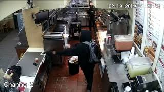 Surveillance Video: Armed Robbery Suspect