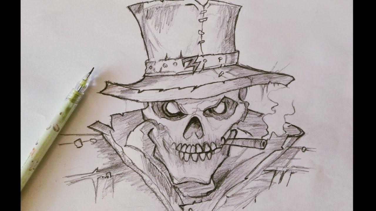 M penciltalk pencil drawing no3 ghost rider skull