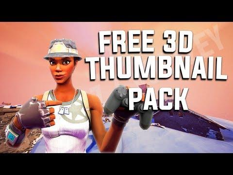 3d Fortnite Thumbnail Pack Free Psd Download