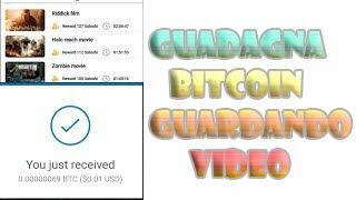guadagnare bitcoin guardando video 2021