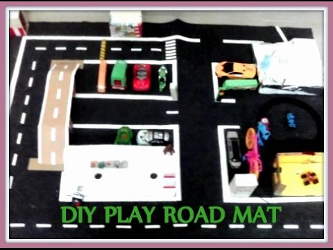 Play Road Mat - Toy Road - DIY Road Mat - Handmade Play Road Mat
