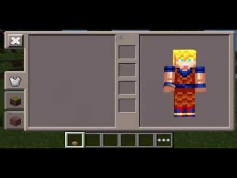 Minecraft PE Super Saiyan Goku Costume Skin YouTube - Skins para minecraft pe de goku