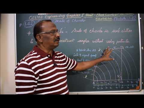 Explain Scale of Chords - M1.42 - Engineering Graphics in Tamil.