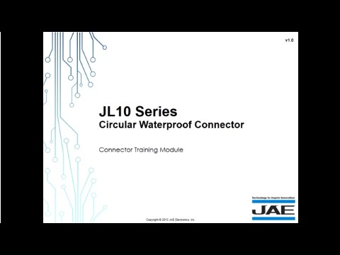 JAE Circular Waterproof Connector – JL10 Series