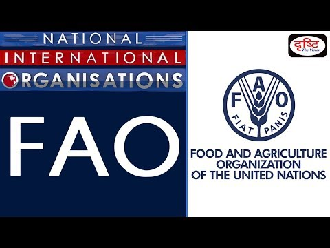 FAO - National/ International Organisation