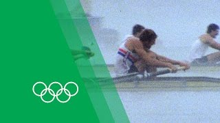 The famous Coxed 4 recount the 1984 Olympics | Moments in Time