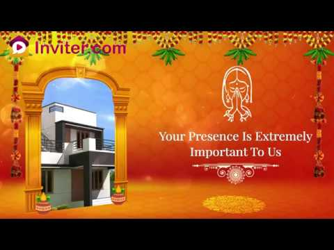 House Warming Ceremony Gruha Pravesh Video Invitations