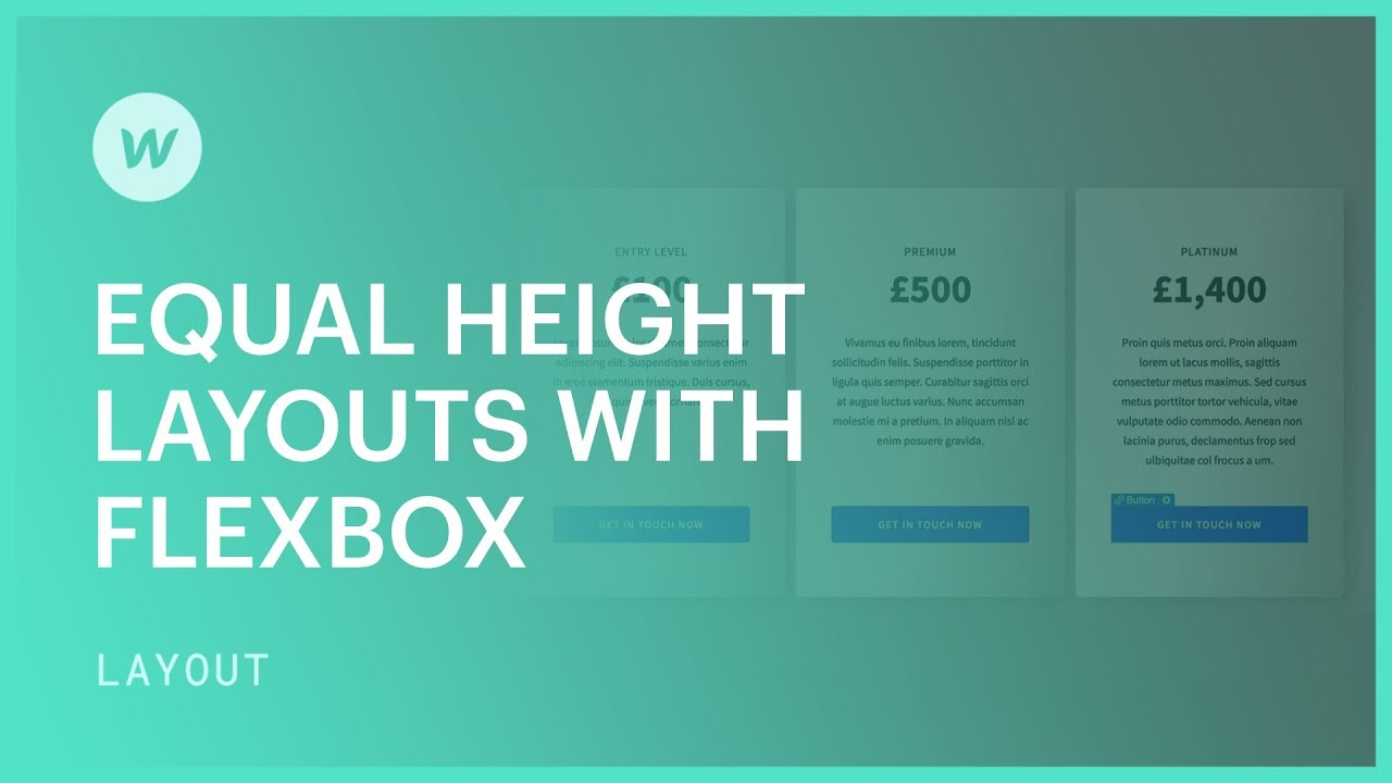 Equal-height layouts with flexbox - Web design tutorial (using the Old UI)