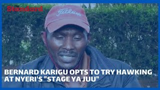 Nyeri Golf Club\'s handicap 6 caddy Bernard Karigu opts to try hawking at Nyeri\'s \