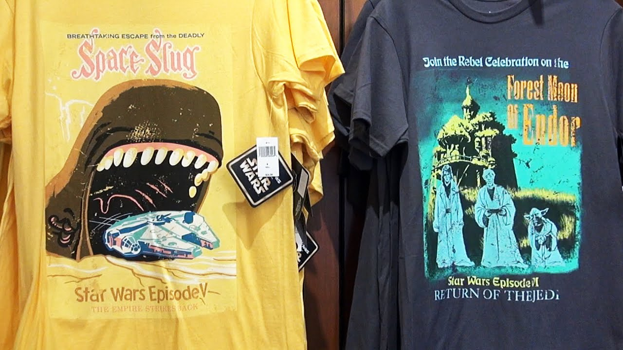 Star Wars Disney Attraction Poster Mashup Shirts Magic