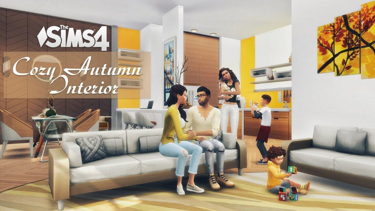 Cozy Autumn Interior • Family Apartment | No CC | Stop Motion | THE SIMS 4 thumbnail