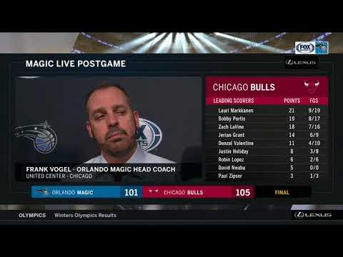 Frank Vogel -- Orlando Magic at Chicago Bulls 02/12/18