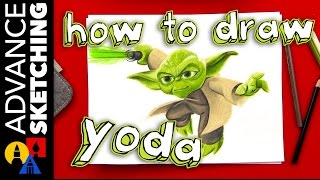 How To Draw Yoda - Advance Sketching Timelapse