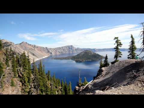 timelapse clouds at crater lake