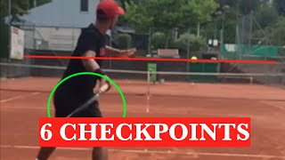 6 checkpoints to hit a solid forehand