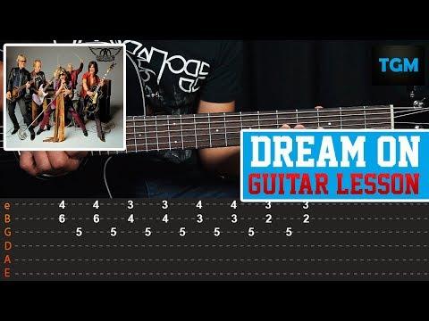 Como Tocar - Dream On - Aerosmith - Guitar Lesson (Tutorial)