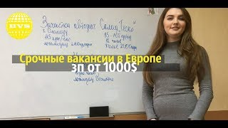 Работа в Чехии 2019 для СНГ. ЗП от 1000$ - Легально