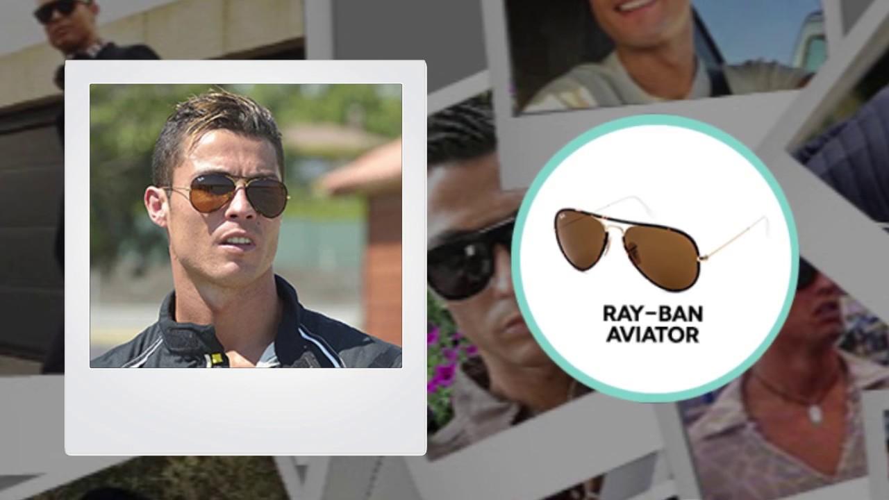 6b92db7550 Lentes de sol Cristiano Ronaldo - Looks de famosos | LentesWorld ...