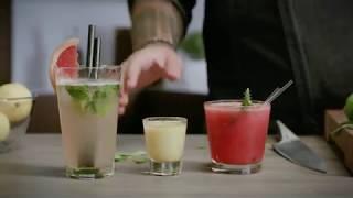 Летние коктейли: рецепты от BORK. Арбузный коктейль с ромом, грейпфрутовый мохито, лимончелло