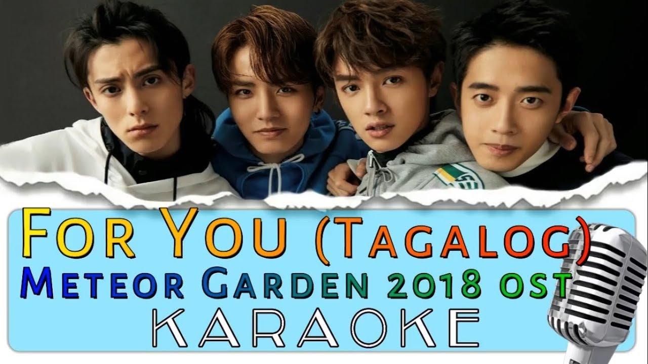 For You Tagalog Karaoke Version Meteor Garden 2018 Ost Youtube