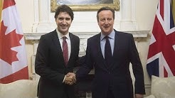 Justin Trudeau meets with David Cameron in London