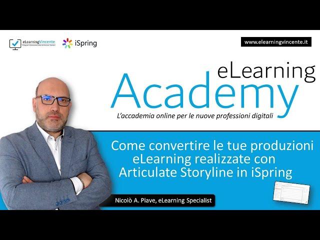 Come passare da Articulate Storyline ad iSpring Suite senza perdite
