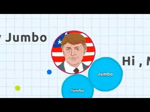 Agar.io - Jumbo VS DONALD TRUMP   Last Man Standing ( Solo Agario Gameplay )
